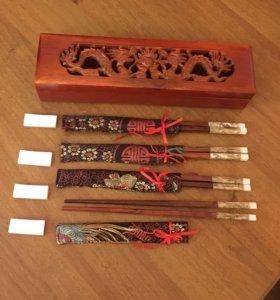 Новый Подарочный набор: палочки для еды и суши