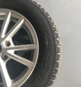 Оригинальные литые диски шкода на зимней рещине