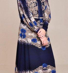 НОВОЕ трикотажное макси-платье, размер 46-50