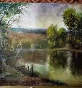 """Продам картину """"Лесное озеро"""""""