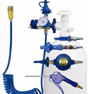 Газовое оборудование с манометром.
