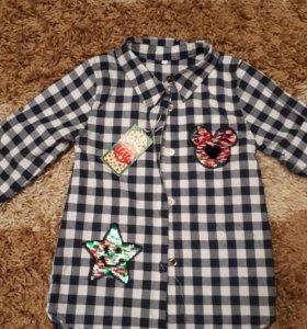 Рубашка, р-р 36, на 5 лет, новая