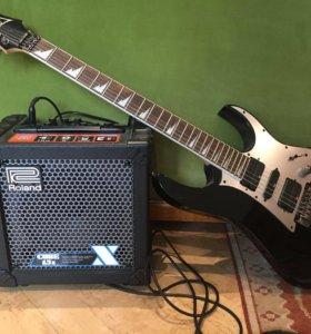 Электрическая гитара с комбиком
