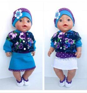 Летний комплект для куклы Беби Бон