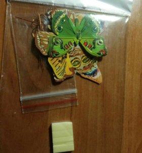 Наклейки 3d в виде бабочек