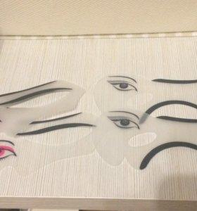 Трафареты для макияжа