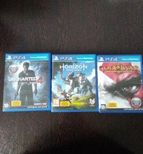 Диски эксклюзивы на PlayStation 4