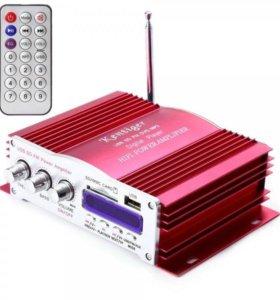 Усилитель звука HY504 (4х20Вт, USB, SD, FM)