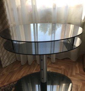 Столик (подставка под ТВ) стеклянный