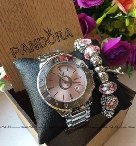 Часы и браслет PANDORA новые