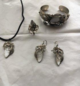 Ювелирный набор из четырех предметов ручной работы