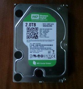 2 ТБ Жесткий диск Western Digital Green