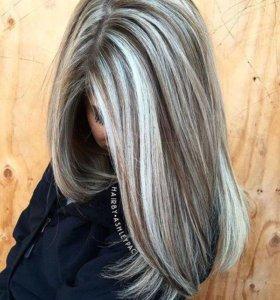 Миллирование волос,наращивание