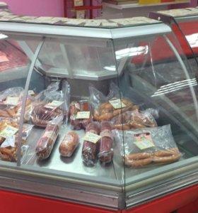 Угловая холодильная витрина