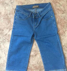 Новые джинсовые бриджи