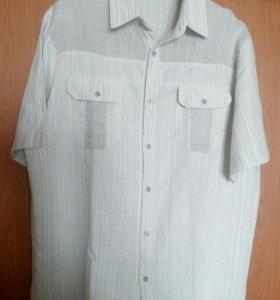 Рубашка новая льняная мужская