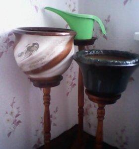 кашпо горшки для цветов глиняные 2шт