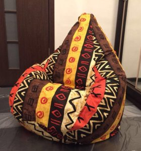 Новое Кресло мешок XL (125x85) Жаккард Африкан
