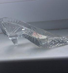 Хрустальная туфелька для украшений