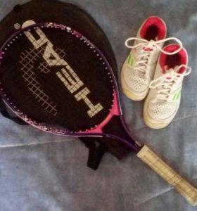 Набор для большого тенниса (кроссовки + ракетка)