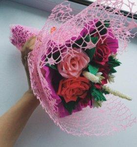 Красивые цветы из гофрированной бумаги 🤤