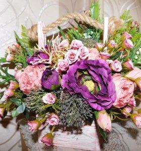 декоративные композиции из цветов