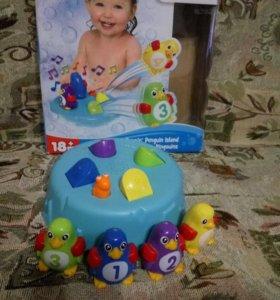 Игрушка для ванной пингвины tomy