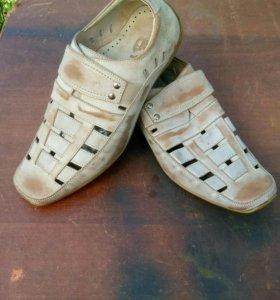 Туфли ботинки кожаные новые