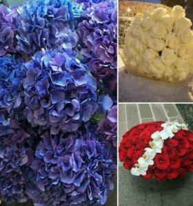 Красивые букеты. Оформление цветами