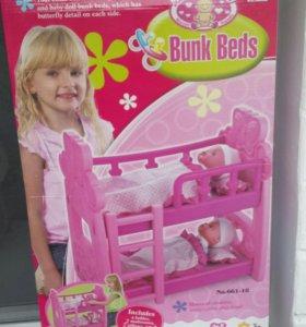 Двухъярусная кровать для кукол