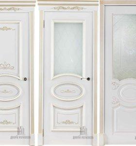 Межкомнатные двери ЭМАЛЬ+патина