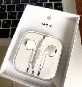 Наушники Apple EarPods с lightning на гарантии
