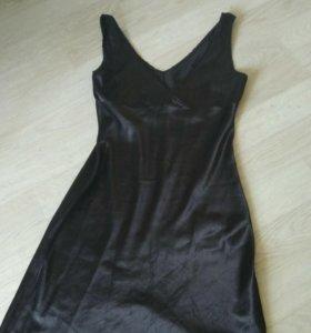 Платье черное вечернее. Шелк