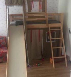 Кровать чердак для принцессы