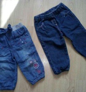 Джинсы и штаны на девочку 1 год