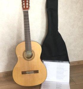 Гитара + чехол для гитары + песенник