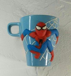 Кружка с декором Человек-паук