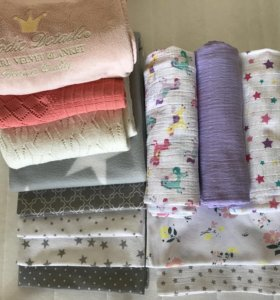 Пеленки и пледы для кроватки и коляски