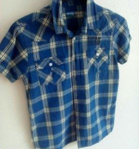 Рубашки летние на мальчика р.140,158