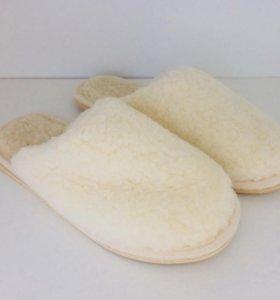 Тапочки из овечьей шерсти