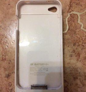 Чехол-зарядка на айфон 4s