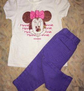 Комплект футболка (Disney) + бриджи