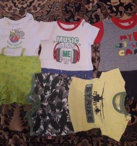 Бодики детские на полгодика 7 комплектов