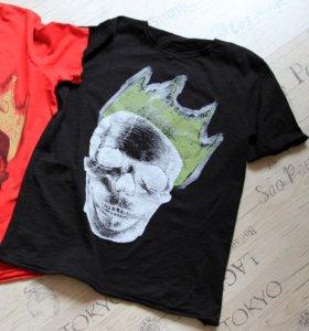 Новые футболки из Рима с черепом