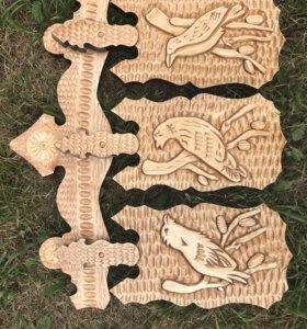 Набор досок из дерева ручной работы
