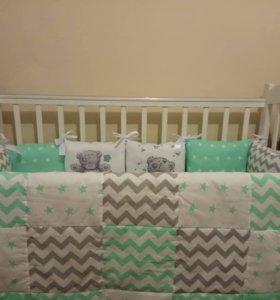 Бортики-подушечки для малышей
