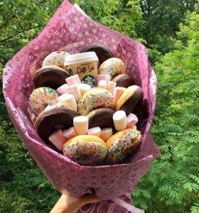 Оригинальный подарок с сюрпризом, сладкий букет