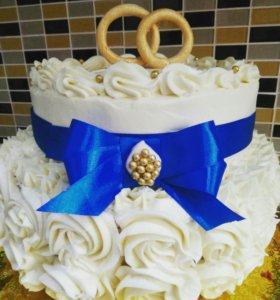 Торты на заказ, караваи свадебные