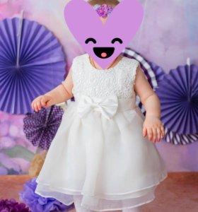 Платье на девочку 12-18 месяцев.
