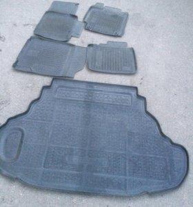 Резиновые коврики Toyota Camry